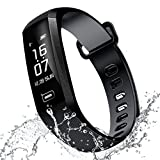 RAFERIAM Smart Bracelet Watch Bluetooth Wireless Smart Fitness Wrist Watches Tracker Blood Pressure Heart Rate Monitor For Iphone Android (Black)
