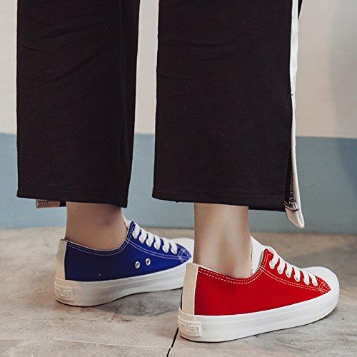 Planos red Color Salvajes De amp;G Casual Zapatos blue NGRDX Zapatos De Calzado Lona Femenina Zapatos 6fv47wq