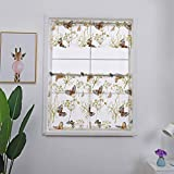 Best Norbi Curtains For Living Rooms - Norbi 1pcs Valance+2pcs Curtain Roman Sheer Butterfly Curtains Review