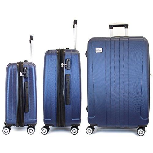 3 Piece Expandable Hard Luggage Set with Lock - 20