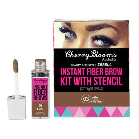 Cherry Blooms Instant Fiber Brow Kit With Stencil – Latte...