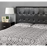 Zinus Faux Leather Upholstered Square Tufted Headboard, Full/Queen, Espresso