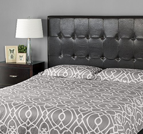 full bed with leather headboard - 6