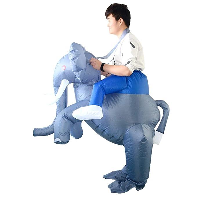 Amazon.com: HHARTS Disfraz inflable de elefante para adulto ...