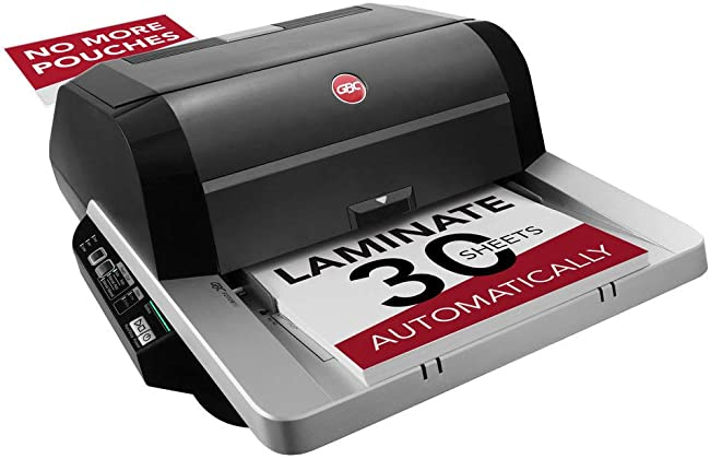 Best Laminator For Busy School Administrators: GBC Foton 30 Automated Pouch-Free Laminator
