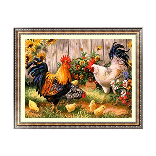 OHTOP 5D Diamond Painting,DIY Rooster Chick Embroidery Cross Stitch Craft Home Decor