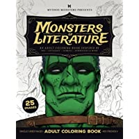 Monsters of Literature Adult Coloring Book of Horror: An Adult Coloring Book Inspired by Poe, Lovecraft, Carroll, Burroughs & More: Volume 2