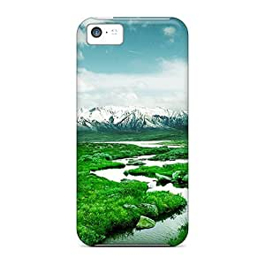New Snap-on NicoECx Skin Case Cover Compatible With Iphone 5c- Norway Mountain River