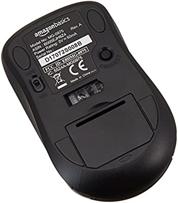 AmazonBasics Wireless Computer Mouse with Nano Receiver