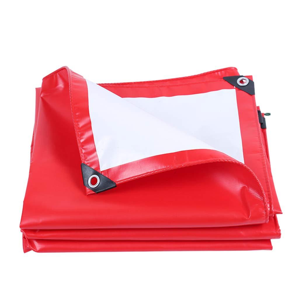 Lu Starke Wasserdichte Plane, Sun-Plane, Markise-Tuch im Freien, Stadiums-Schuppen-Stoff, LKW-Plane in den verschiedenen Größen, 500G   M² (Farbe   rot, größe   4x5m)