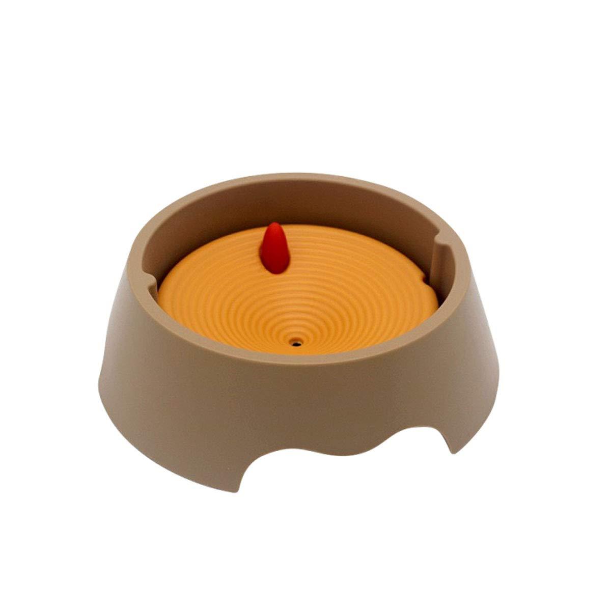 M XIAN Dog Bowl, Not Wet Beard Water Bowl, Cat Non-Stick Beard Cat Bowl, Pet Bowl Easy to Clean Bacteria & Rust Resistant (Size   M)