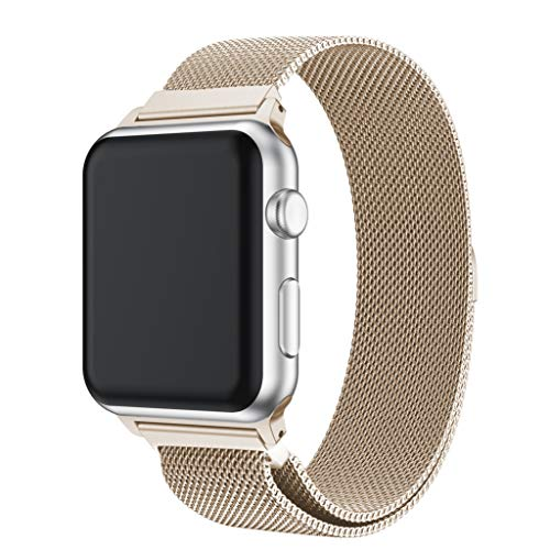 (Sinma Lucury Milanese Stainless Steel Magnetic Watch Band Strap Replacement Accesorise for Apple Watch Series 4 40MM)
