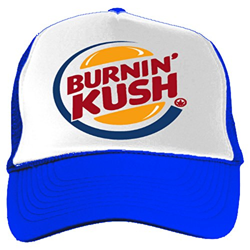 Burning-Kush-Funny-Burger-King-420-Cannabis-Stoner-Marijuana-Snapback-Blue