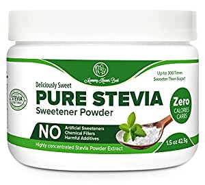 Pure Stevia Powder Extract Sweetener - Zero Calorie Sugar Substitute - Completely Free of Artificial Ingredients (750 Servings)