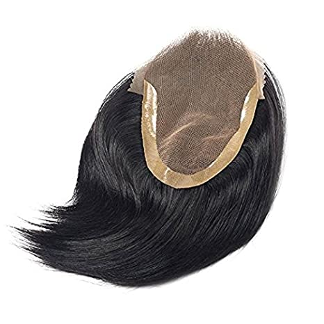 dffe501a7 100% Human hair Patch/Hair Wigs For Natural Brown/Super Swiss lace Hair  Toupee For Men (Dark Brown, 9X7) + Free Front Lace Hair Tape: Amazon.in:  Beauty