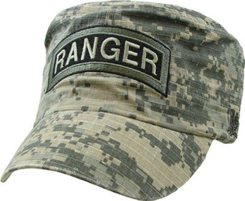 (U.S. Army Ranger Flat Top Cap,Digital Camo,Adjustable)