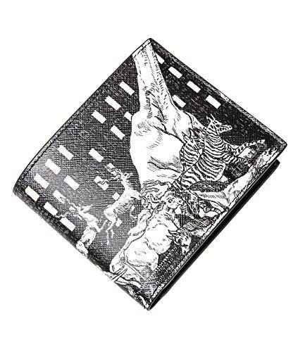 Wiberlux Prada Men's Animal Print Billfold Real Leather Wallet