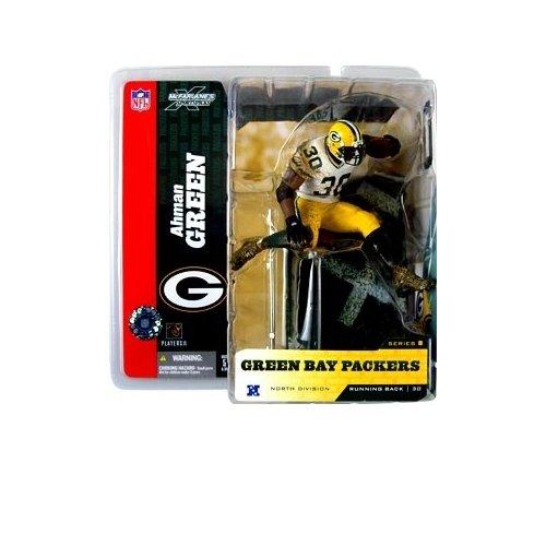 McFarlane Toys NFL Sports Picks Series 8 Action Figure Ahman Green (Green Bay Packers) White Jersey Variant - Ahman Green Game