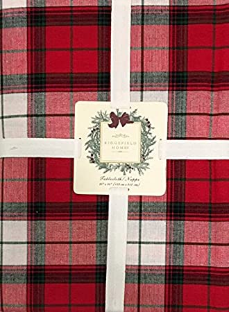Attirant Christmas Holiday Tartan Plaid Tablecloth In Red Green U0026 White By  Ridgefield Home | 100%