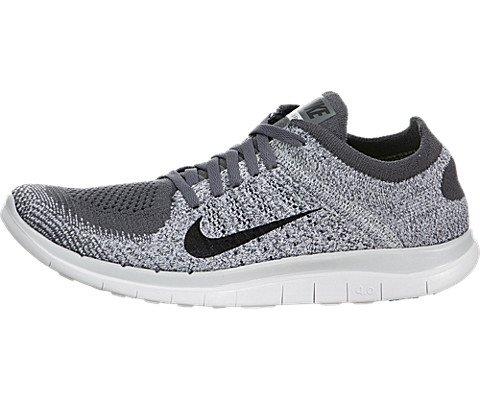 half off b8593 751ad Galleon - Nike Women s Free Flyknit 4.0 Dark Grey Black Pr Pltnm White  Running Shoe 7.5 Women US