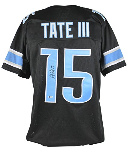 Lions Golden Tate Authentic Signed Black Jersey Autographed BAS Witnessed