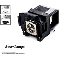 AWO ELPLP85 / V13H010L85 Premium Quality Replacement Lamp with Housing Fit For EPSON PowerLite Home Cinema 3000/3500/3600e, EH-TW6600/TW6600W