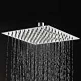 KES J211S12 ALL SUS304 Stainless Steel 12-Inch Shower Head Fixed Mount ...