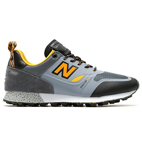 New Balance, Sneaker uomo Light Grey/Grey/Chromatic Yellow