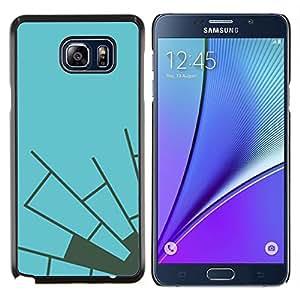 YiPhone /// Prima de resorte delgada de la cubierta del caso de Shell Armor - Azul Gris Telaraña minimalista - Samsung Galaxy Note 5 5th N9200