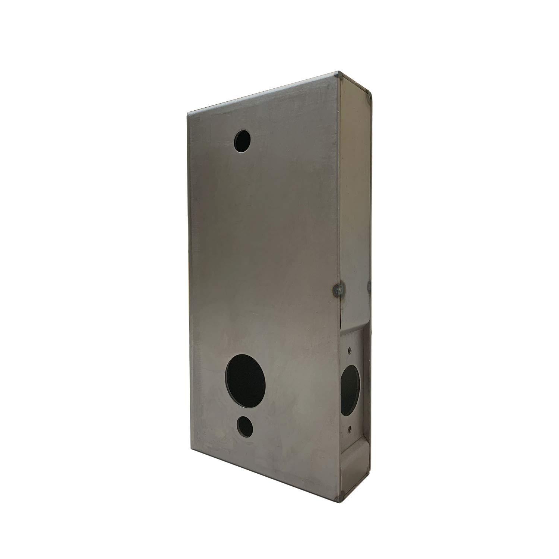 OASIS Steel Gate Keyless Lock Box for KIASET Heavy Duty Mechanical Keyless Lock LK950DS & LK515SS, Unpainted