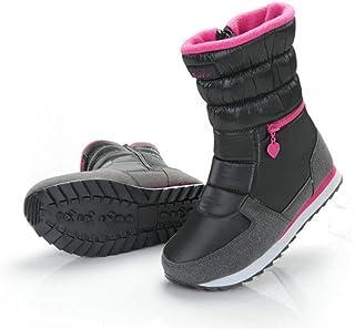 BNXXINGMU Stivali da Neve Caldi Scarpe in Cotone daDonna Punta TondaInvernoCaldoMorbido ESpesso Scarpe Invernali Impermeabili Grigio 10