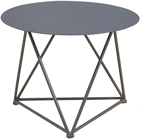 YNN Table Mesa Auxiliar nórdica, Mesa de té de Hierro, Mesa ...