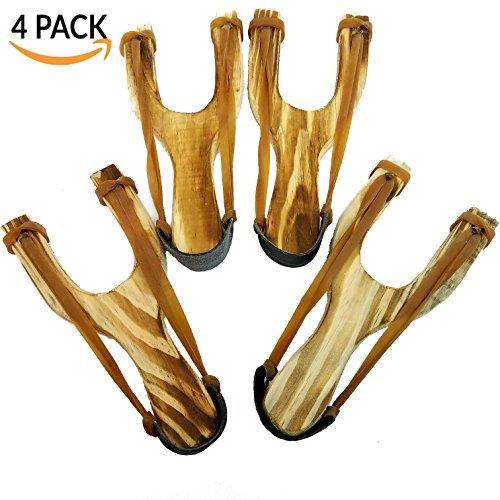 Adventure Aespers. - Paquete de 4 tiras de madera talladas a mano con un gran asa para sujetar – cada zapato está hecho a...