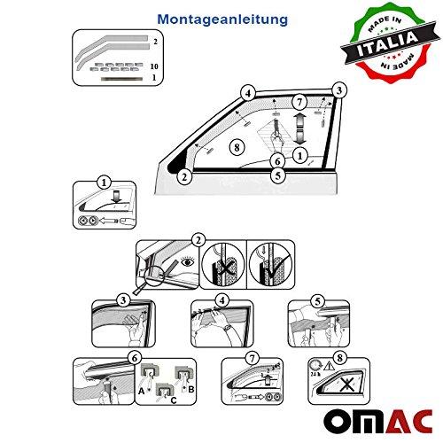Omac GmbH Hyundai Tucson Windabweiser Regenabweiser 2 tlg Satz Vorne ab 2015