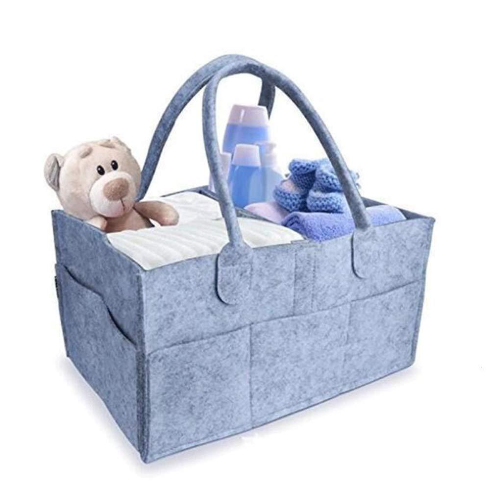 Filzwindel Aufbewahrungstasche Baby Windel Caddy Tragbarer Kindergarten Aufbewahrungsbeh/älter Auto Reisetasche Baby Wischtasche nbvmngjhjlkjlUK Wickeltasche dunkelgrau