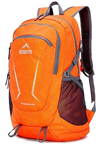 Venture Pal Large 45L Hiking Backpack - Packable Lightweight Travel Backpack Daypack for Women Men (Orange)