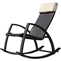 Sale Grand Patio Weather Resistant Wicker Rocking Chair With