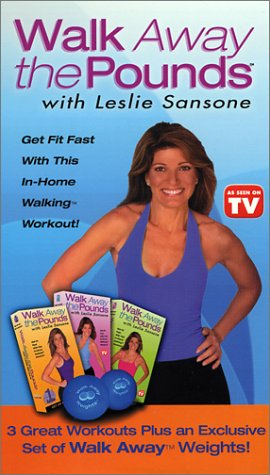 Leslie Sansone - Walk Away the Pounds 3 Pack (includes weight set) [VHS] by Good Times Video