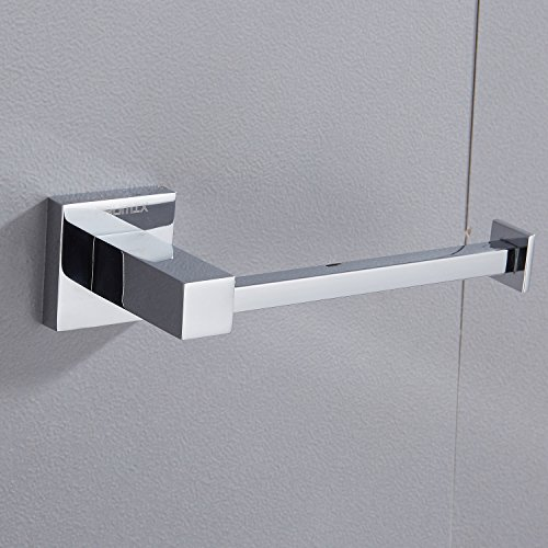 Bathroom Toilet Paper Holder Stainless Steel Wall Mount FAUMIX Tissue Dispenser Roll Paper Holder - Chrome (Toilet Chrome Holder Paper)