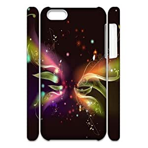 Cell phone 3D Bumper Plastic Case Of Butterfly For iPhone 5C