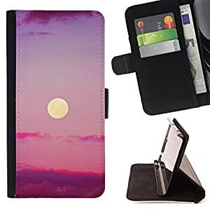 Jordan Colourful Shop - purple sunset clouds nature sky summer For Apple Iphone 6 PLUS 5.5 - Leather Case Absorci???¡¯???€????€???????
