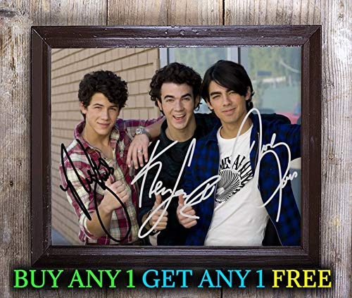 Jonas Brothers Pop Band Autographed Signed 8x10 Photo Reprint #22 Special Unique Gifts Ideas Him Her Best Friends Birthday Christmas Xmas Valentines Anniversary Fathers Mothers Day