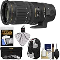 Sigma 70-200mm f/2.8 APO EX DG OS HSM Zoom Lens with 3 Filters + Case + Kit for Nikon Digital SLR Cameras