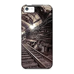 Tough Iphone YzI16041DQZV Cases Covers/ Cases For Iphone 5c(underground Railway)