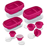 Rubbermaid TakeAlongs 10-Day Meal Prep Kit, 30-piece Set, Beet Red
