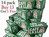 la llave coffee - Cafe La Llave (14 Pack) 10 Oz Coffee Ground by La Llave