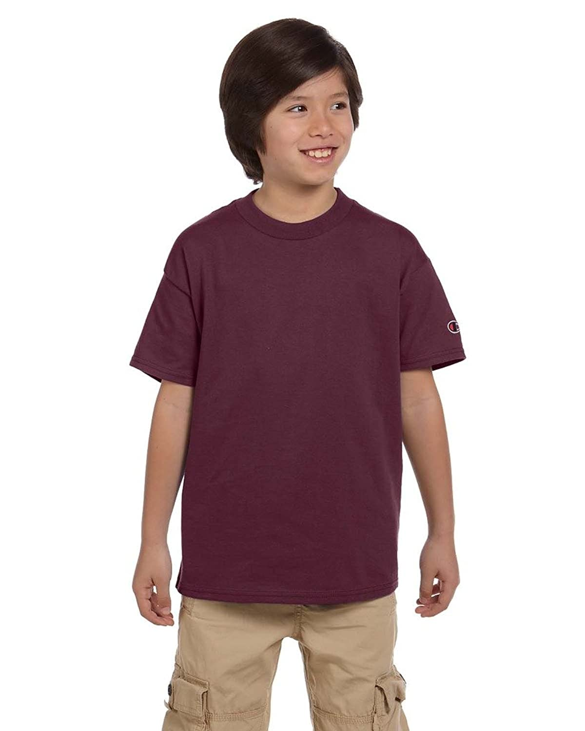 CH YOUTH 6.1OZ COTT S/S TEE (MAROON) (M) hot sale