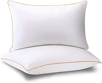 Set of 2 Neipota Bed Pillows with Soft and Firm Fluffy