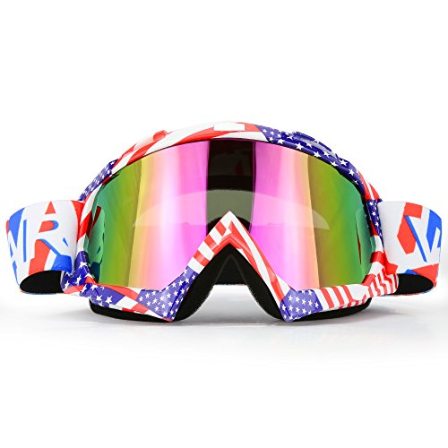 Motorcycle Goggles Dirt Bike ATV Motocross Mx Goggles Glasses for Men Women Youth Kids (8 Color) - Goggles Email