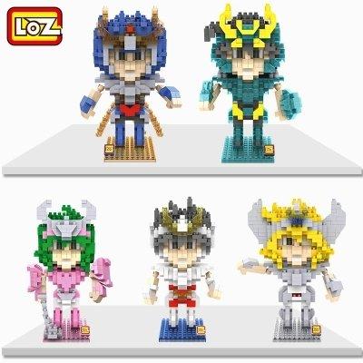 Saint Seiya Myth Cloth Hsanhe 5pcs/set LOZ Blocks Diamond Building Blocks Action Figure 3d with Original Box